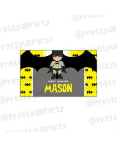 Batman Inspired themed Best Wishes card