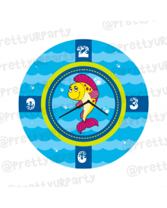 Under the sea personalised round clock