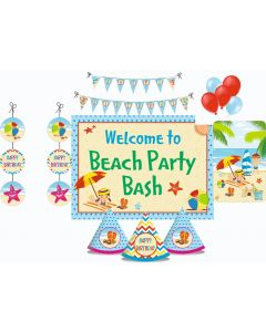 Beach Party Decorations Package - 70 pieces