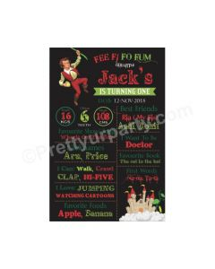 Jack & The Beanstalk Theme Chalkboard Poster