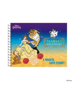 Disney Belle themed Personalised Sketchbook