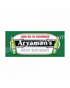 Personalized Beer Party Theme Banner 30in