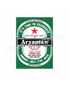 Beer Party Theme Invitations