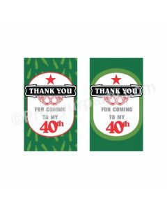 Beer Party Theme Thank you Tags