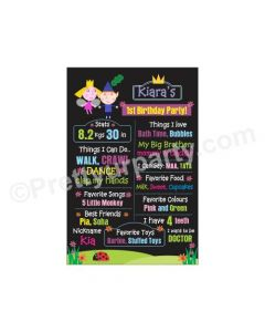 Ben and Holly's Little Kingdom Theme Chalkboard Poster