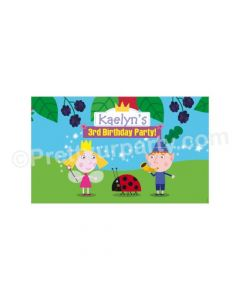 Ben and Holly Little Kingdom Theme Backdrop