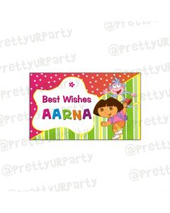 Dora the Explorer themed Best Wishes card