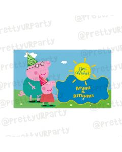 Peppa Pig inspired themed Best Wishes card