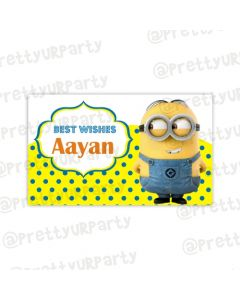 Despicable Me Minions themed Best Wishes card