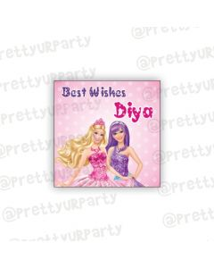 Barbie Rockstar themed Best Wishes card