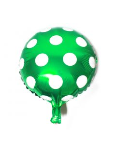 Big Polka Dot Foil Balloon- Green