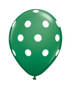 big polka dot balloons-dark green