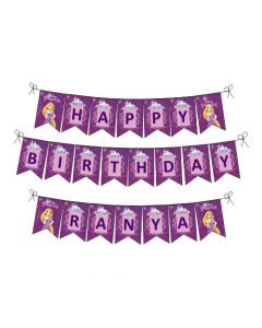 Tangled / Rapunzel Happy Birthday Banner