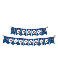 Captain America Birthday Banner