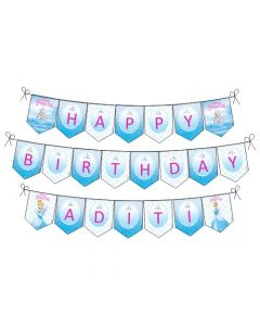 Disney Cinderella Happy Birthday Banner