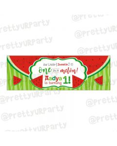 Personalized Watermelon Theme Banner 36in