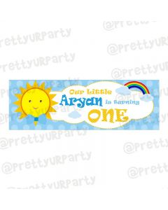 Personalized Sunshine Theme Banner 36in