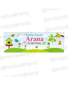 Personalized Little Bird Theme Banner 36in