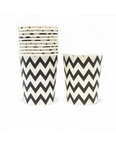 Black Chevron Paper Cups