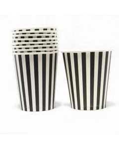 Black Stripes Paper Cups