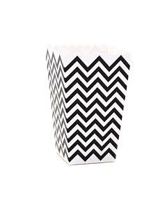 Black Chevron Popcorn Box