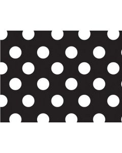 black polka dots big  wrapping paper