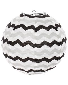 Black Chevron Paper Lamp