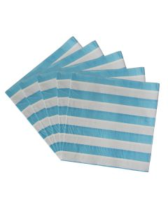 Blue Striped Paper Napkins