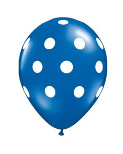 big polka dot balloons- blue