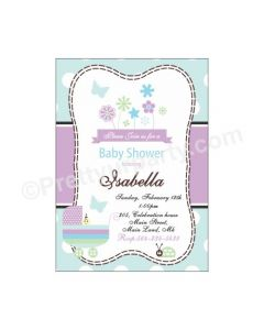 Blue and Purple E-Invitations