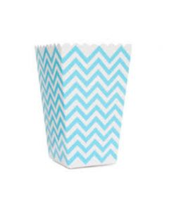 Blue Chevron Popcorn Box