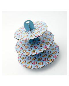 Blue Cupcake Design Cupcake Stands
