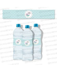 Blue and Purple  Water Bottle Labels