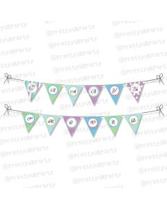 Blue and Purple Bunting