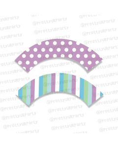 Blue and Purple Cupcake Wrappers