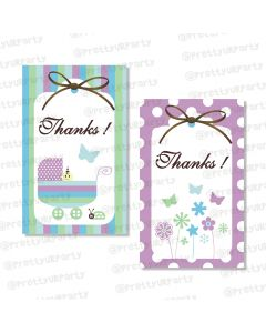 Blue and Purple Thankyou Cards
