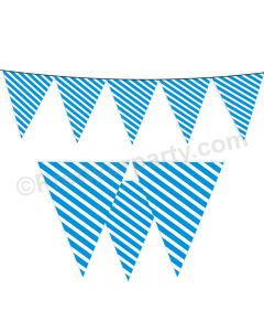 Blue Stripes Bunting
