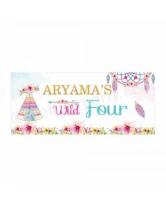 Personalized Boho Theme Banner 30in