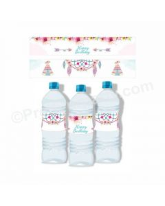 Boho Theme Water Bottle Labels
