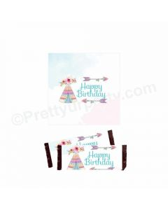 Boho Theme Chocolate Wrappers