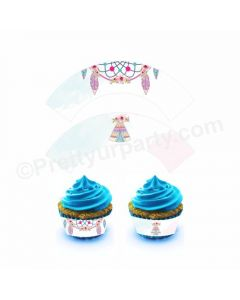 Boho Theme Cupcake Wrappers