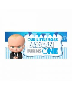 Personalized Boss Baby Theme Banner 30in