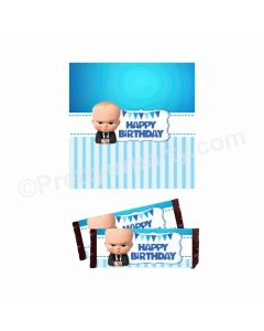 Boss Baby Theme Chocolate Wrappers