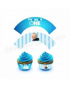 Boss Baby Theme Cupcake Wrappers