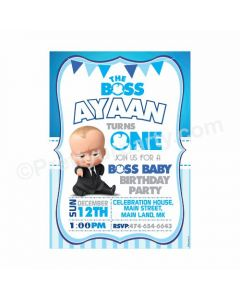 Boss Baby Theme E-Invitations Design