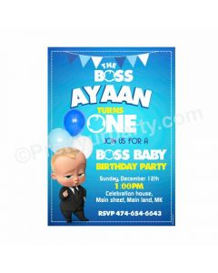 Boss Baby Theme Invitations Design 01