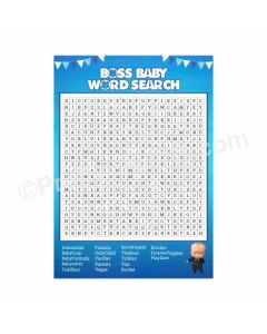 Boss Baby Word Search Game