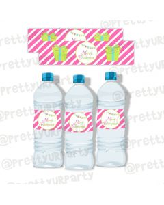 Merry and Bright Water Bottle Labels