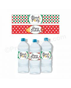Pizza Party Theme Water Bottle Labels