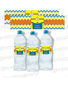 Despicable Me Minions bottle labels